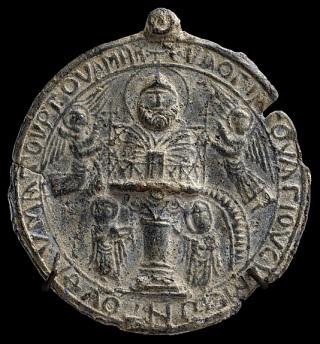Amuleto de peregrino com imagem de São Simão Estilita, o jovem, (século X-XI)