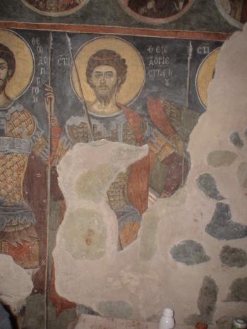 Afresco de S. Teodoro Stratelates - Monastério de Dragalevtsi, Bulgária - século XIV